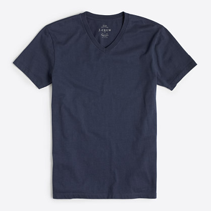 Tall slim washed V-neck T-shirt