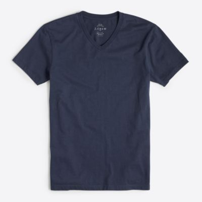 Tall slim washed V-neck T-shirt factorymen tall c