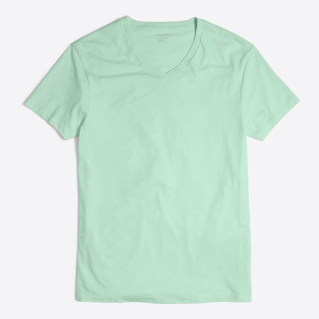 Slim washed V-neck T-shirt