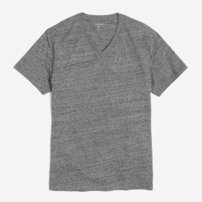 Slim washed V-neck T-shirt factorymen t-shirts & henleys c