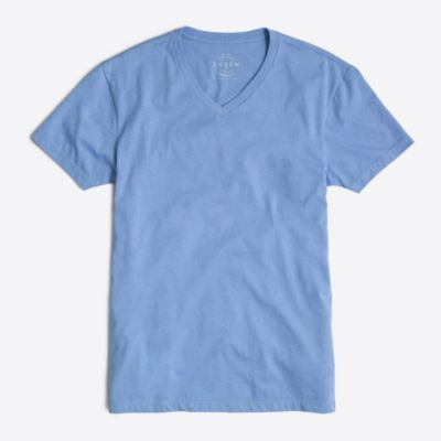 Slim heathered washed V-neck T-shirt factorymen slim c