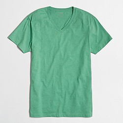 Factory slim heathered washed V-neck T-shirt