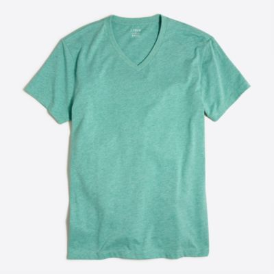 Heathered V-neck T-shirt factorymen online exclusives c