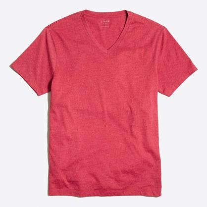 Slim heathered washed V-neck T-shirt
