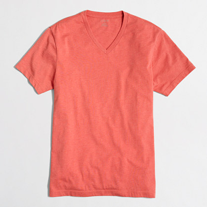 Slim heathered washed V-neck T-shirt