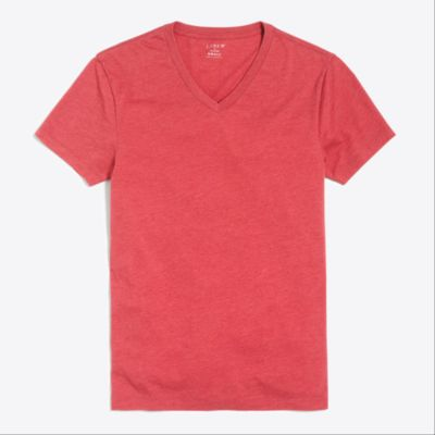 Slim heathered washed V-neck T-shirt factorymen t-shirts & henleys c