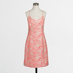 Factory floral jacquard tank dress