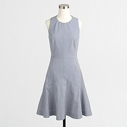 Factory flared seersucker dress