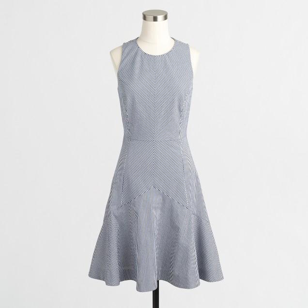 Flared seersucker dress