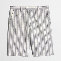 "11"" patterned linen-cotton Rivington short"