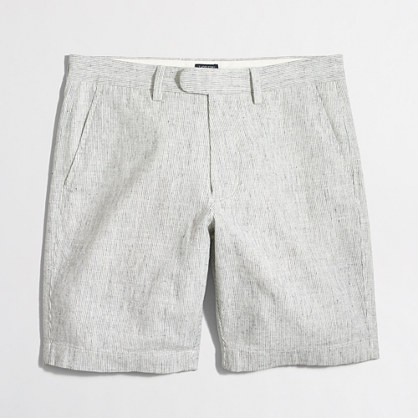 "9"" linen-cotton Gramercy short with extended tab"
