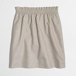 Factory metallic linen-cotton sidewalk skirt