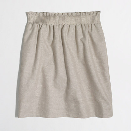 Metallic linen-cotton sidewalk skirt