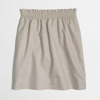 Metallic linen-cotton sidewalk skirt