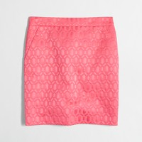 Ribbed jacquard mini skirt