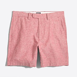 "7"" linen-cotton Reade short with extended tab"
