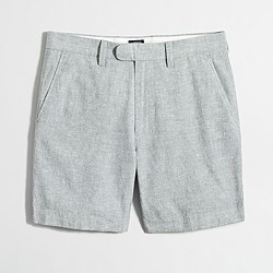 """Factory 7"""" linen-cotton Reade short with extended tab"""