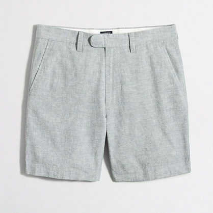 """7"""" linen-cotton Reade short with extended tab"""