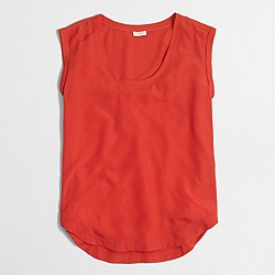 Factory drapey scoopneck top