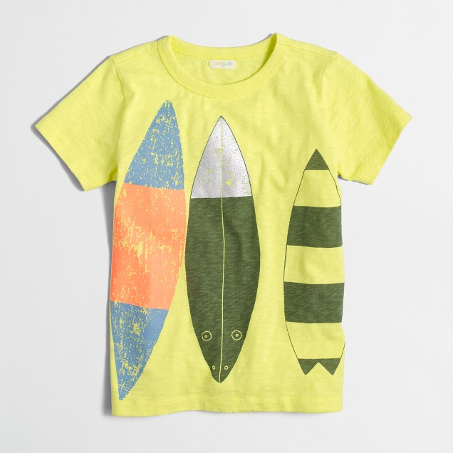 Boys' surfboards storybook T-shirt