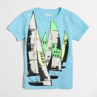 Boys' sailboat fleet storybook T-shirt