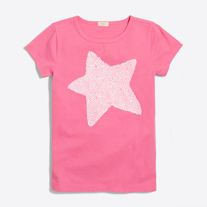 Girls' sequin star keepsake T-shirt