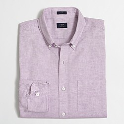 Factory slim cotton-linen shirt