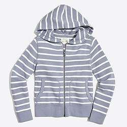 Boys' striped full-zip hoodie