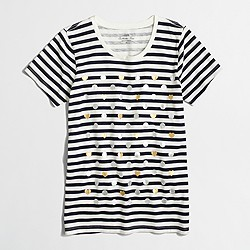 Factory heart dot striped collector T-shirt