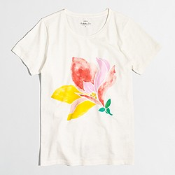 Factory watercolor flower collector T-shirt