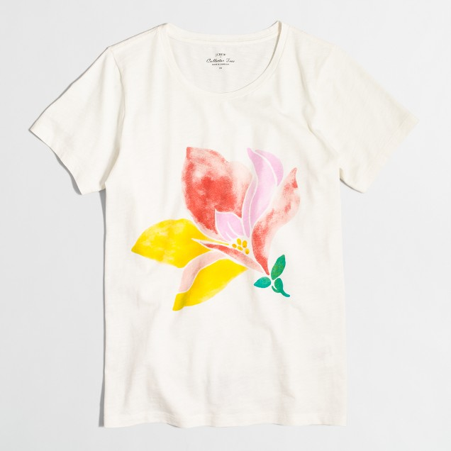 Watercolor flower collector T-shirt
