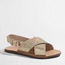Factory girls' metallic sandals