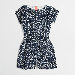 Factory girls' drapey hearts romper