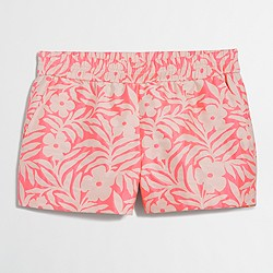 "Factory 3"" floral jacquard boardwalk pull-on short"