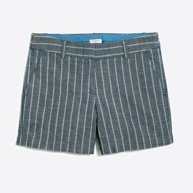 "5"" cotton striped short"