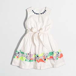 Factory girls' embroidered butterfly dress