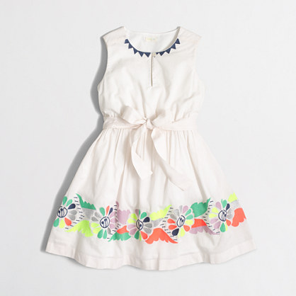 Girls' embroidered butterfly dress