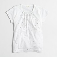 Girls' scattered sequin T-shirt