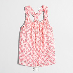 Factory girls' printed drawstring tank top
