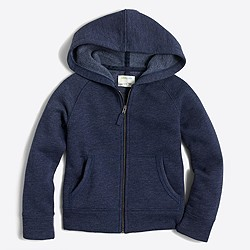 Girls' fleece full-zip hoodie