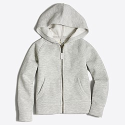 Girls' fleece full-zip hoodie