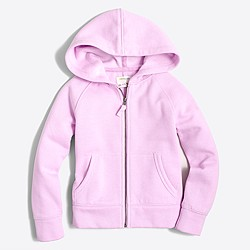 Factory girls' fleece full-zip hoodie