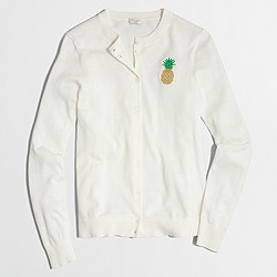Factory pineapple Caryn cardigan sweater
