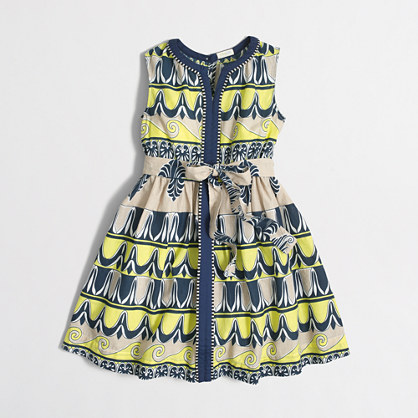 Girls' printed center-seam dress