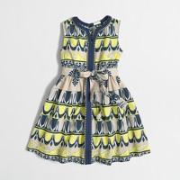 Girls' printed center-seam dress