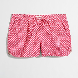 """Factory 3"""" printed linen pull-on short"""