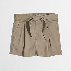 Factory Tencel® tie-waist short