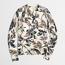Factory floral Caryn cardigan sweater
