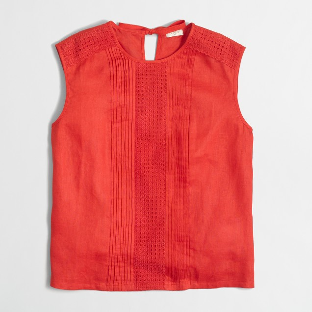 Lace-trim shell top