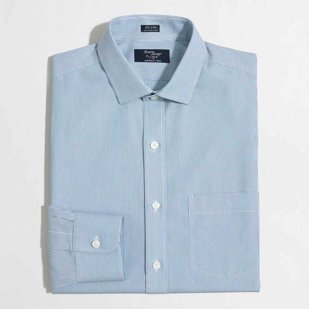 Wrinkle-free Voyager dress shirt in banker stripe